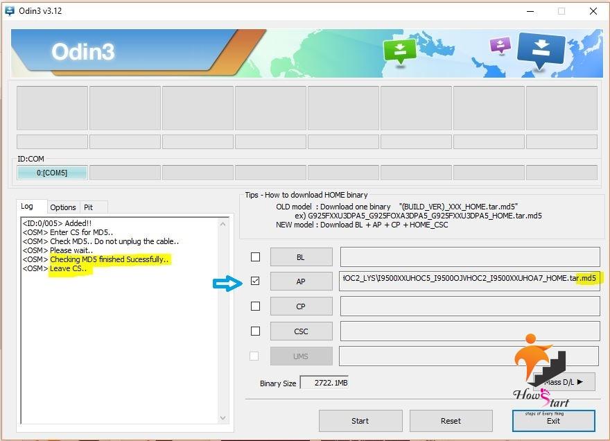 odin - رام رسمی سامسونگ - www.howstart.ir -